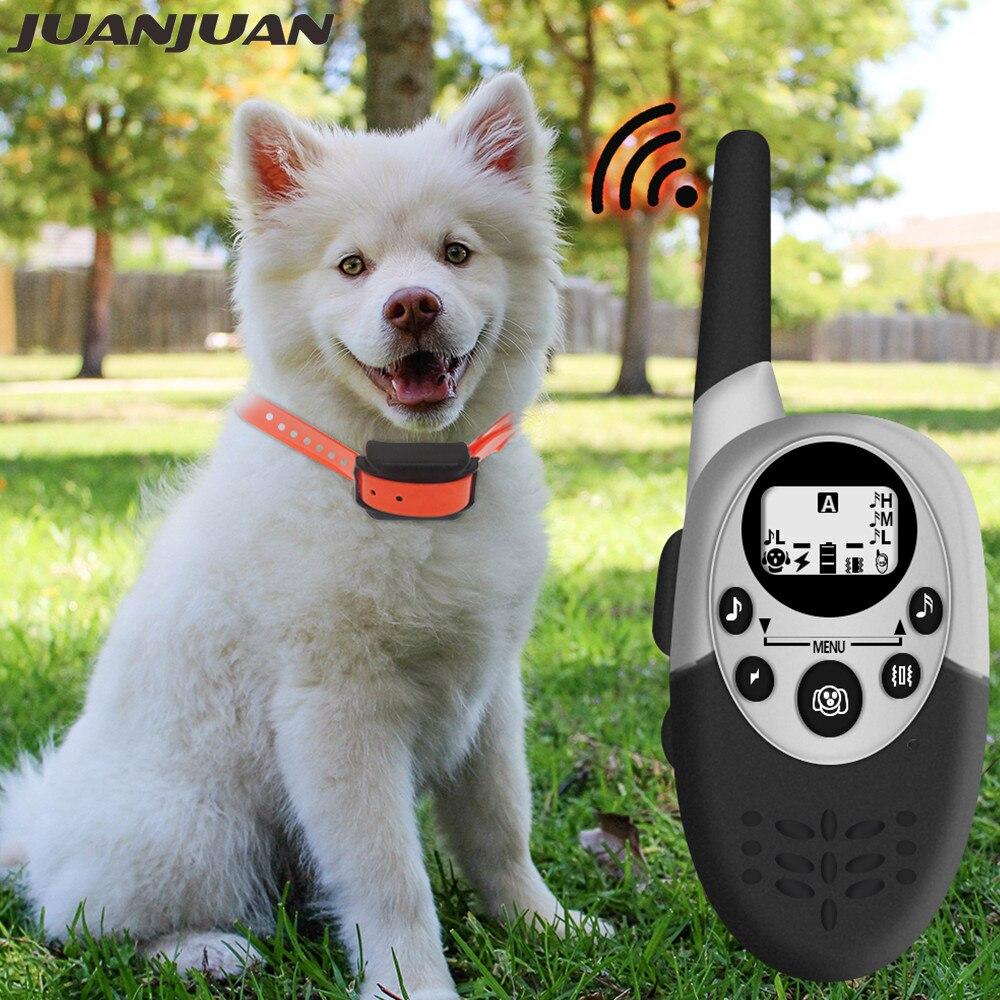 1000 м водонепроницаемый ошейник для дрессировки собак перезаряжаемый антилай контроль звука напоминающий Вибрационный амортизатор Скидка 40%Ошейник для дрессировки   -