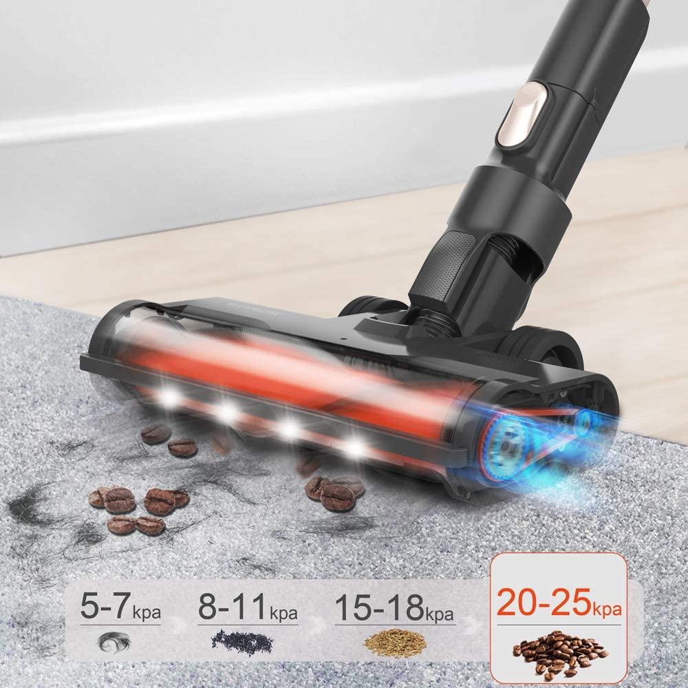Womow Cordless Vacuum Cleaner 25kpa Power Suction Aspiradora Stick Handheld Wireless Vacuum Cleaner W20 Vs Ilife For Home Car 3