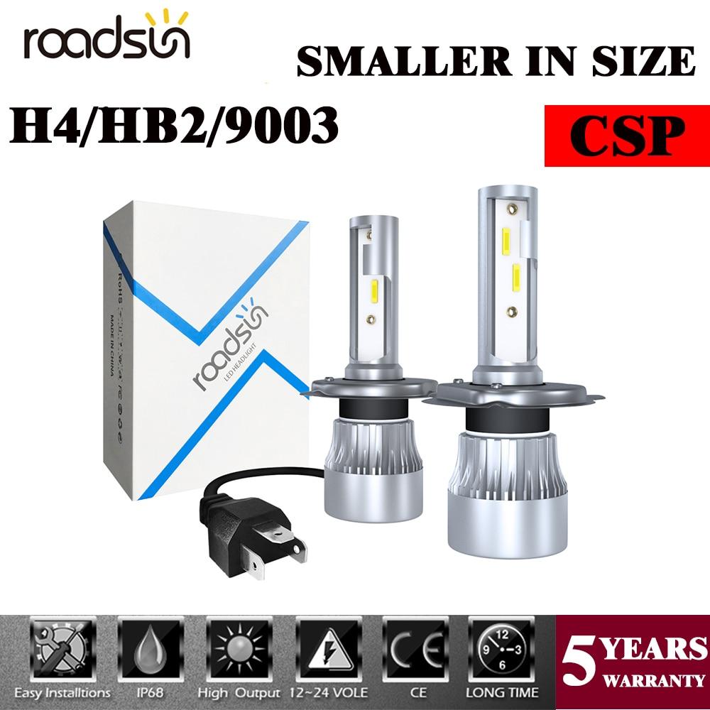 Комплект автомобильных светодиодных ламп, 60 Вт, 9003 лм, H4/HB2/6000