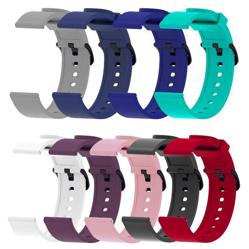 Soft Silicone For Xiaomi Huami Amazfit Bip Replacement Sport Strap Wrist Bracelet Strap For Amazfit Bip Watchband 20mm Strap