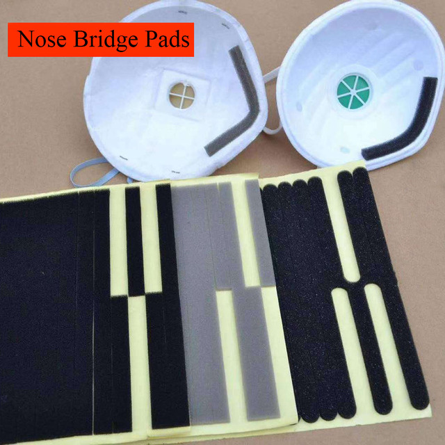 100Pcs Microfiber Foam Protection Strip Anti-Fog Nose Bridge Pads Cushion Mouth Mask Diy Making Fix Protection Mask Materials 2