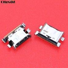 Cltgxdd 100PCS Micro USB Jack Socket Charging Port Connector For Samsung Galaxy A70 A60 A50 A40 A30 A20 A405 A305 A505 A705 стоимость