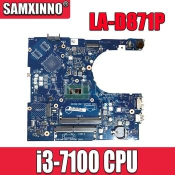 For Dell Inspiron 5566 5468 Laptop Motherboard CN-0DMD9K 0DMD9K DMD9K BAL60 LA-D871P i3-7100u DDR4