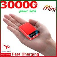 Mini Power Bank 30000MA Portable Charger Outdoor Power SluppyTravel Power Bank Digital Display LED Lighting for Xiaomi Samsung 1