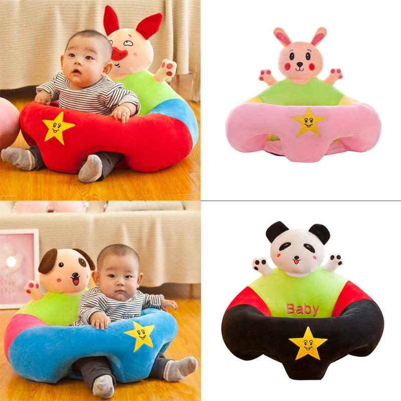 Cartoon Baby Sofa Cover Support Seat Cover No Filling Anti-fall Children Chair Delicate Exquisite Soft Comfortable Feel