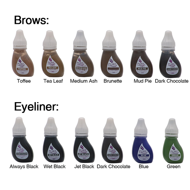 USA microblading pigment Pigment Original Pure Micropigment Permanent Makeup Tattoo Inks set for Eyebrow Eyeliner Lip 4