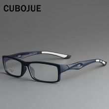 CUBOJUE gafas deportivas con montura TR90 para hombre, anteojos con prescripción ultraligeros, gafas ópticas de estilo masculino