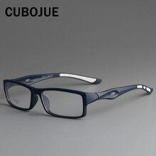 CUBOJUE okulary sportowe ramki mężczyźni TR90 okulary człowiek ultralekkie okulary korekcyjne dla męski styl okulary optyczne