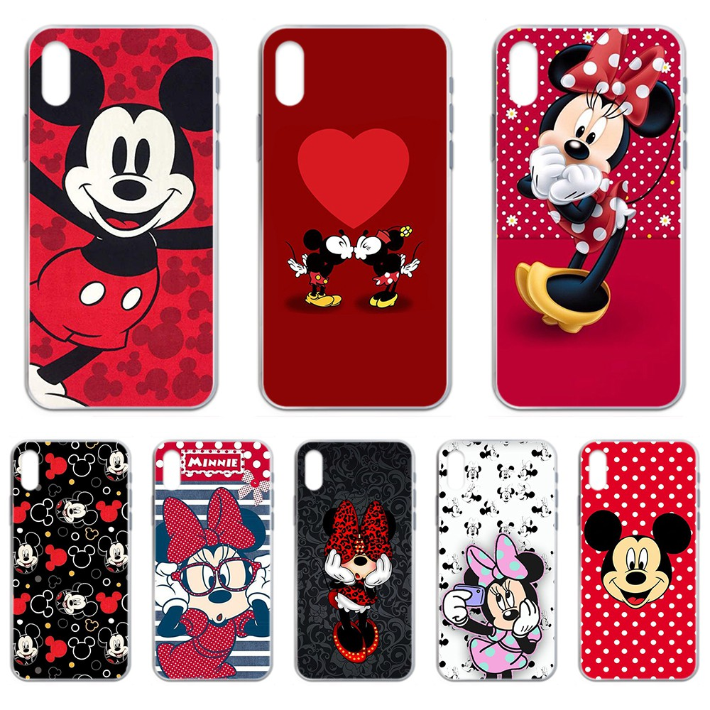 Cartoon <font><b>Mickey</b></font> lovely Mouse <font><b>coque</b></font> Transparent Phone Case For <font><b>iphone</b></font> 4 4S 5 5C 5S 6 <font><b>6S</b></font> PLUS 7 8 X XR XS 11 PRO SE 2020 MAX image