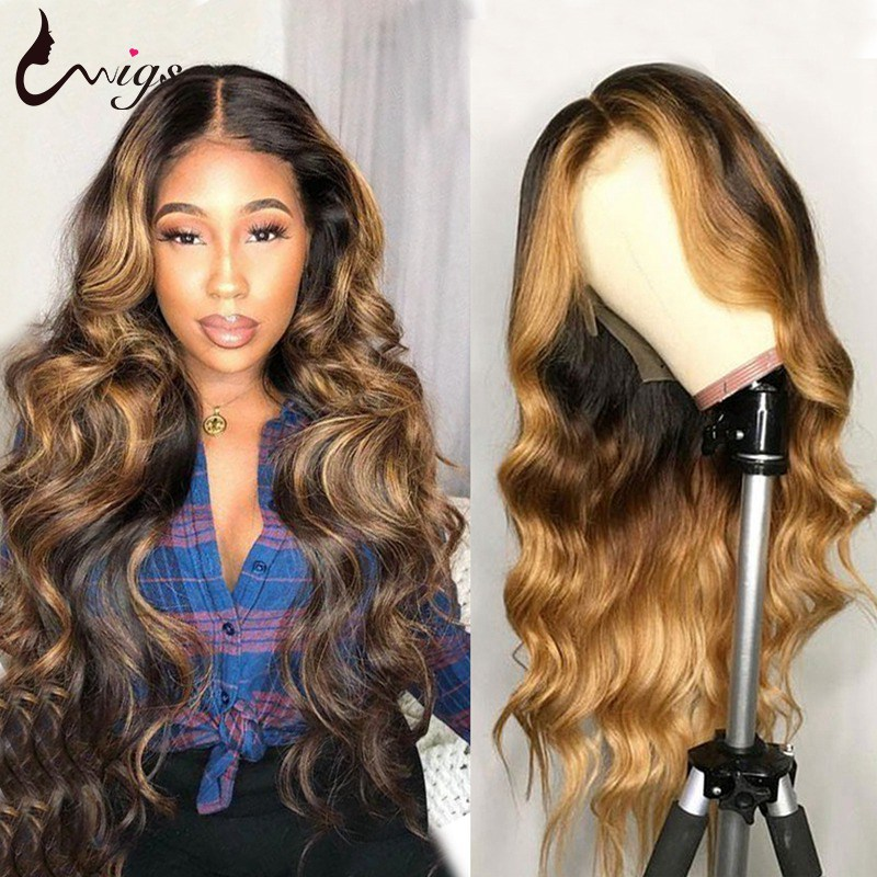 4 27 Highlight Body Wave Wigs 8-26