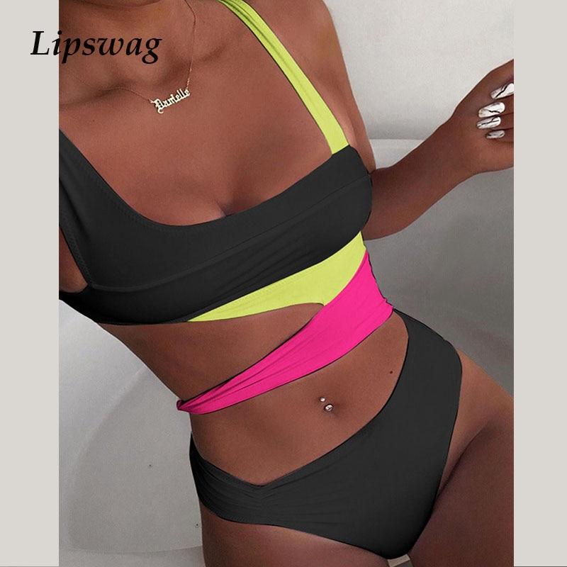2021 Fashion Sexy Bandage Cut Out Bikini Swimsuit Women Push Up Swimwear Bikini Set Summer Female Biquini Beachwear Bathing Suit