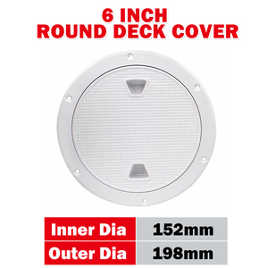 """Image 4 - 2 Pcs 6"""" ABS Round Inspection Hatch Tight Screw Out White Anti corrosive Inspection Access Deck Plate for Marine Boat Yacht"""