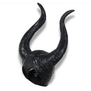 Image 4 - Maléfique masque la maîtresse du mal, accessoires de Cosplay, couvre chef unisexe, Halloween Angelina Jolie reine noire, couvre chef chapeaux