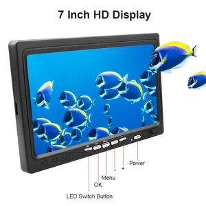 """Image 4 - Erchang 1000TVL Vissen Camera 7 """"Inch 15M Onderwater Camera Voor Vissen 12Pcs Infrarood + 12 Stuks Wit lamp Fishfinder Voor Ijs/Zee"""