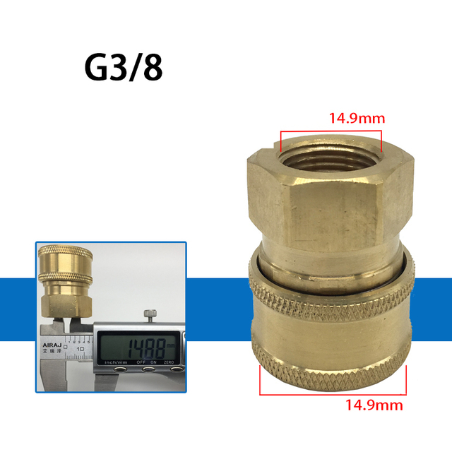Быстрое соединение 3/8 дюйма быстрое высокого давления адаптер