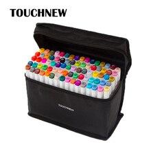 Szkic długopisy Touchnew profesjonalny atystyczny markery pisaki podwójny pędzel pióro do rysowania 30 40 60 80 168 kolorów Manga Anime kolory pióra