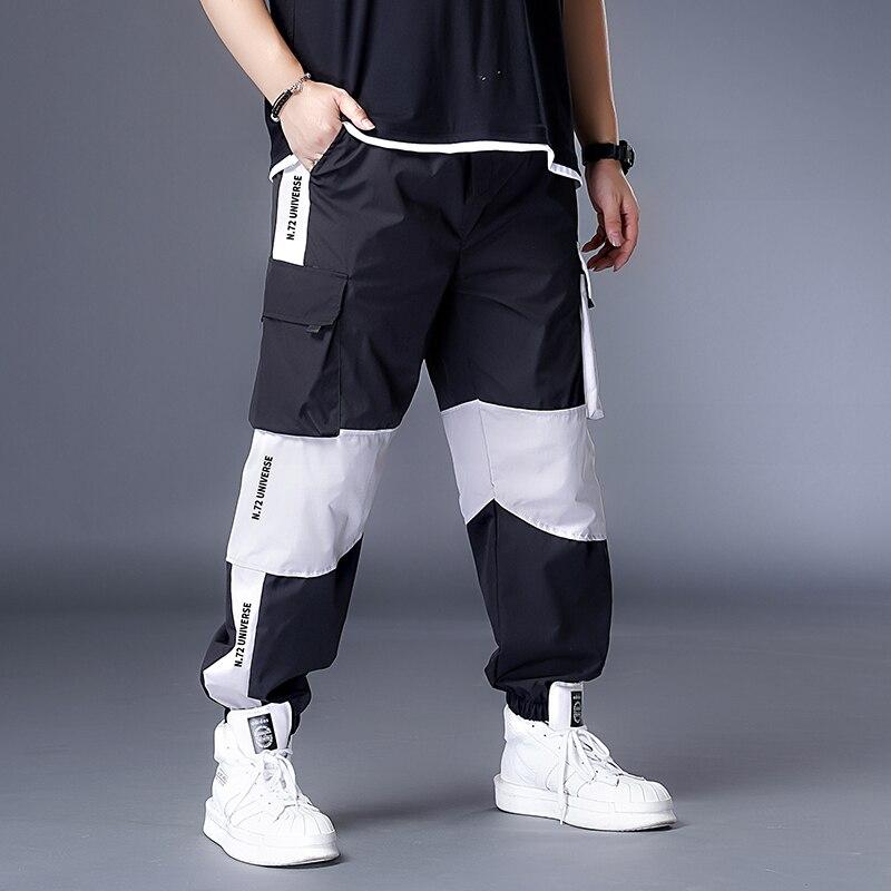 Мужские брюки для бега больших размеров 7XL, 6XL, XXXXXL, повседневные мужские брюки, уличная одежда в стиле хип хоп, черные брюки карго, спортивные, белые, Techwear Jogger|Повседневные брюки| | АлиЭкспресс