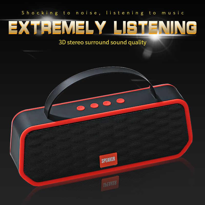 Portabel Bluetooth 5.0 Speaker Suara Bass Outdoor Nirkabel Loudspeaker Mendukung TF Kartu FM Handsfree Panggilan 1200 MAh Subwoofer