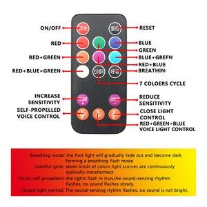 Image 5 - Niscarda 4 шт. Автомобильный светодиодный светильник с изображением звездной ноги USB атмосферный окружающий DJ смешанный цветной музыкальный ритм звук Голосовое управление Лазерная лампа