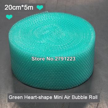 20cm x 5m zielony w kształcie serca Mini Air Bubble Roll Party dobrodziejstw i prezenty pakowanie rolka pianki dekoracje ślubne Emballage Bulle Warp tanie i dobre opinie CN (pochodzenie) 1 pc Z tworzywa sztucznego Serce 247271 Ślub i Zaręczyny przyjęcie urodzinowe Przeprowadzka Na Chiński Nowy Rok