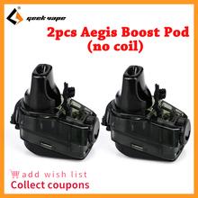 2 sztuk paczka Geekvape Aegis Boost Pod bez cewki 3 7ml pojemność pusty Pod dla Geekvape Aegis Boost Kit system Pod zestaw do e-papierosa tanie tanio Z tworzywa sztucznego Wymienne 2pcs pack