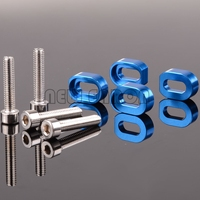 NEW ENRON #7759 4Pcs 1:5 알루미늄 와셔 Shims & RC 자동차 용 스테인레스 스틸 나사 1/5 Traxxas X-MAXX 77086-4