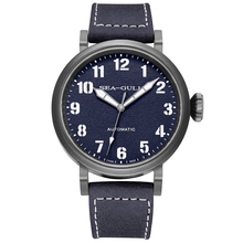 Genuine Seagull pilot watch men leather strap Automatic Mech
