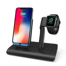 2 in 1 Fast Qi Wireless Charging Stand Dock For iphone XS Max XR X 8 Plus for Apple Watch 3 4  Charger iWatch