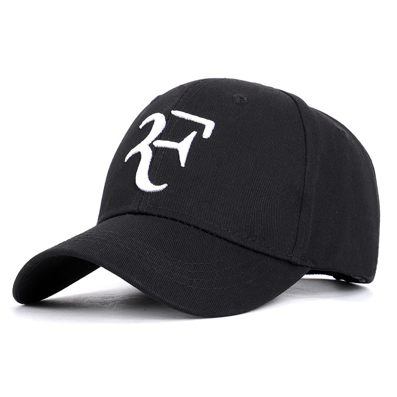 2019 Federer With The Same Paragraph Cotton Tennis Cap Wimbledon RF Tennis Cap Baseball Cap Personality Fashion Couple Hat
