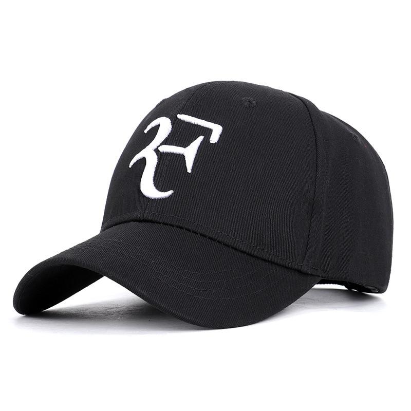 2019 Federer With The Same Paragraph Cotton Tennis Cap Wimbledon RF Tennis Cap Baseball Cap Personality Fashion Couple Hat