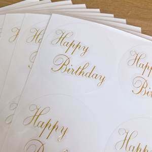 Transparent Stickers Office-Supplies Gifts Happy-Birthday-Cards Round for Seal-Envelopes
