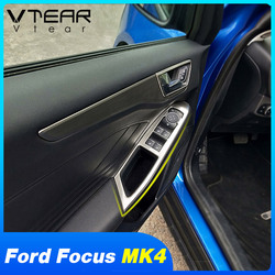 Vtear For Ford Focus MK4 car window lift switch interior control panel frame cover trim bezel door armrest accessories 2019-2020