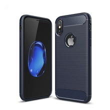 Carbon Fiber Brushed Phone Case For iPhone XS MAX XR X Case Silicone Back Cover For iPhone 7 8 6 6s Plus 5 5s SE Protective Case стоимость
