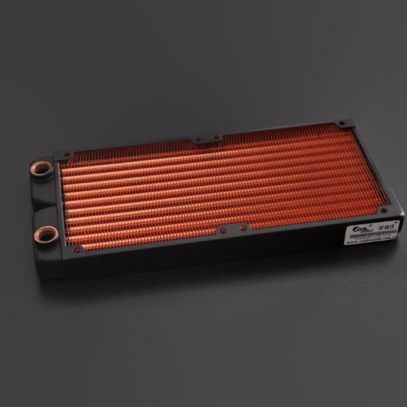 Ke Ruiwo Катюша серии 240 мм полностью красный медный радиатор водяного охлаждения подходит для вентиляторов 120 мм - Цвет лезвия: Black stent