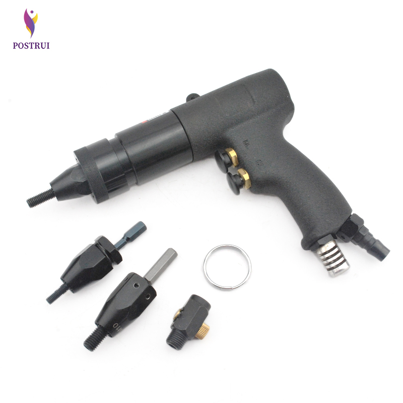 New HG-0610 Pneumatic Riveting Nut Gun M6/M8/M10 Self-locking Pneumatic Riveting Gun Air Rivet Nut Gun Tool 1pc