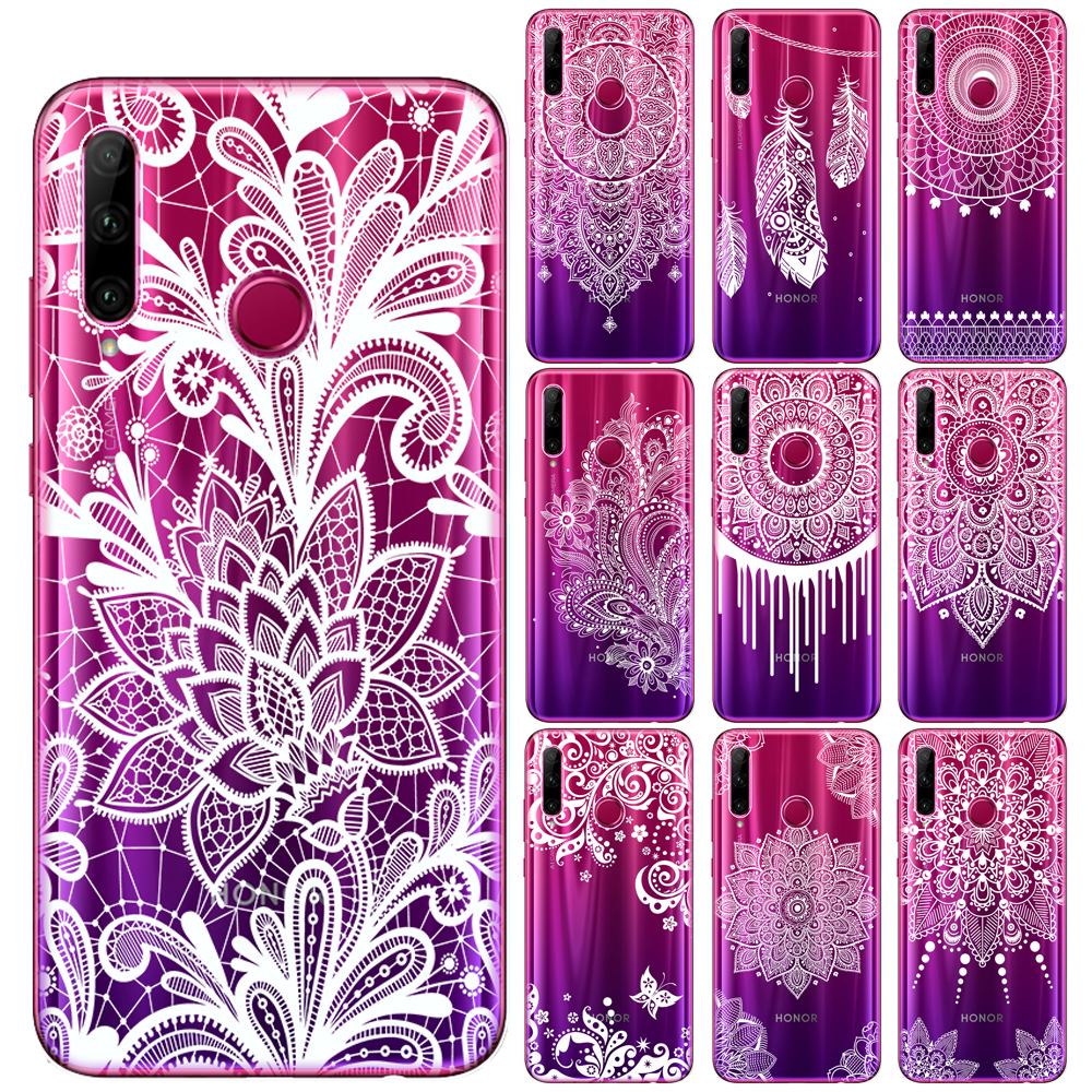 White <font><b>Sexy</b></font> Floral Lace Flower Soft TPU Case Cover For Huawei <font><b>Mate</b></font> <font><b>20</b></font> 30 Lite Pro Honor 9 10 <font><b>20</b></font> Lite Pro 10i 8X 9X Pro Cases image