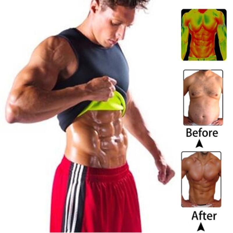 Men Corset Body Slimming Tummy Shaper Fat Burning Vest Belly Waist Girdle Shirt Shapewear Underwear Waist Girdle Shirts