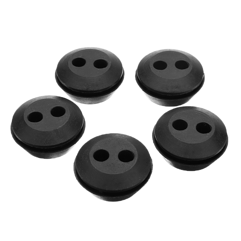 5pcs 2 Hole 20mm Black Assortment Fastener Kit Rubber Fuel Gas Line Grommet Replacement Circle Eyelets And Grommets Mayitr