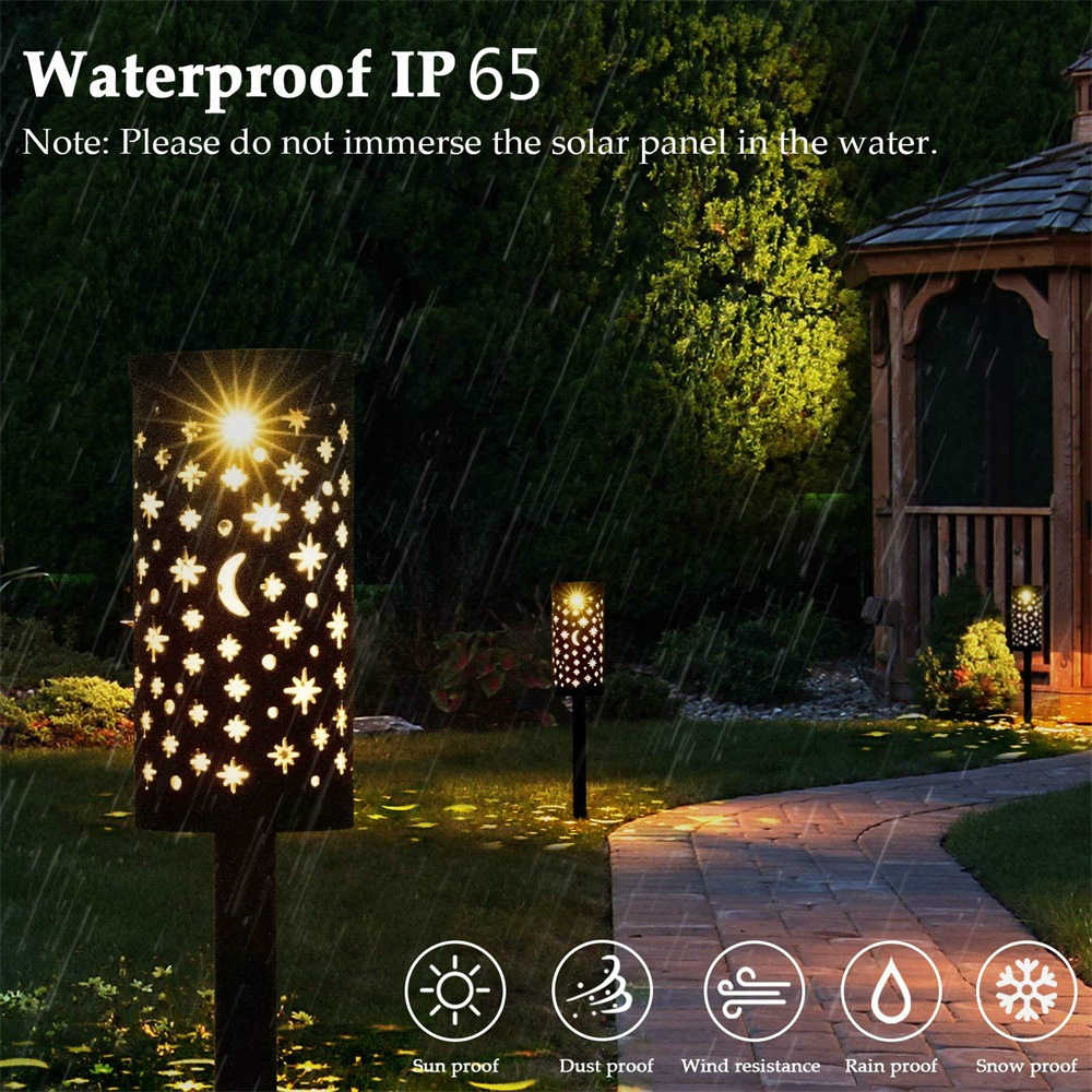 Solar LED Ground Spike deco lamp Garden Balcony Patio Lighting Outdoor Lights
