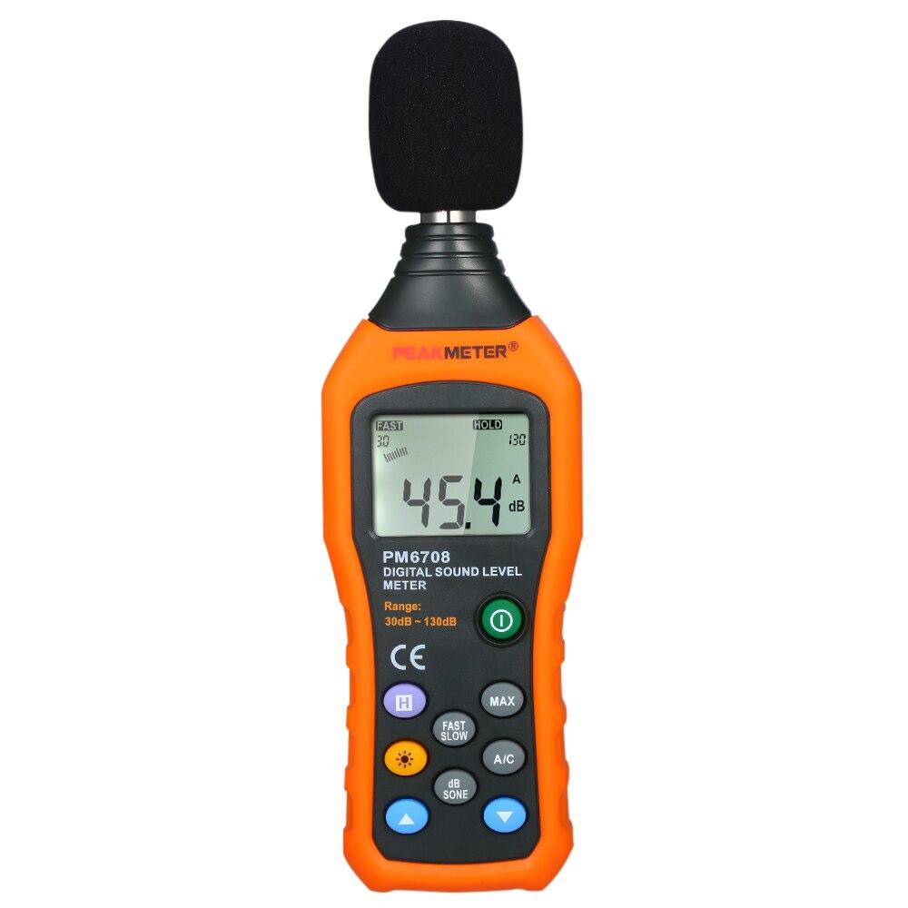 Testeur de niveau sonore numérique LCD haute précision 30-130dB testeur de mesure du Volume sonore décibel
