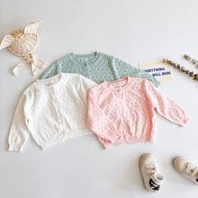 0-2 Years Spring Summer Baby Girl Princess Thin Cardigan Boys Air-Conditioning Shirt Long-Sleeved Knitted Coat Sweater KF676