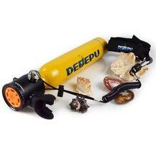 Dedepu 05l мини дайвинг кислородный бак подводный трубка респиратор