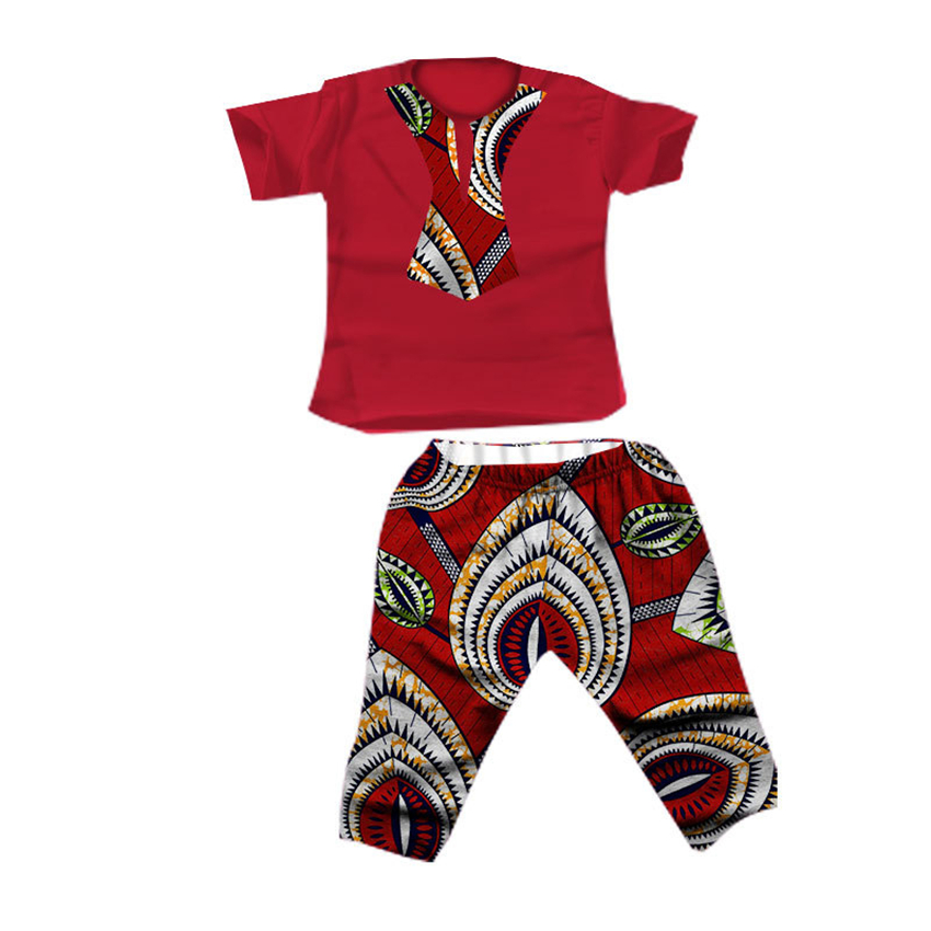 Summer Kids 2019 News African Clothes Baby Boy Top Pants Suit Dashiki Print Bazin African Dresses For Women Men Clothing