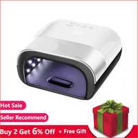 lampe uv ongle SUN3 sèche-ongles Smart 2.0 48 W UV lampe à LED clou avec mémoire de minuterie intelligente Invisible numérique minuterie affichage Machine de séchage des ongles