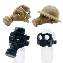 Building Blocks Military SWAT Team Army Gas Mask Weapon guns Figure City Police Helmet Accessory Toy Bricks compatible with lego