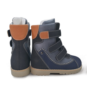 Image 5 - Ortoluckland Children Winter Shoes Orthopedic Boots Fur Leather Calf short Snow Boots For Girls Pink Warm Fashion Kids Shoes