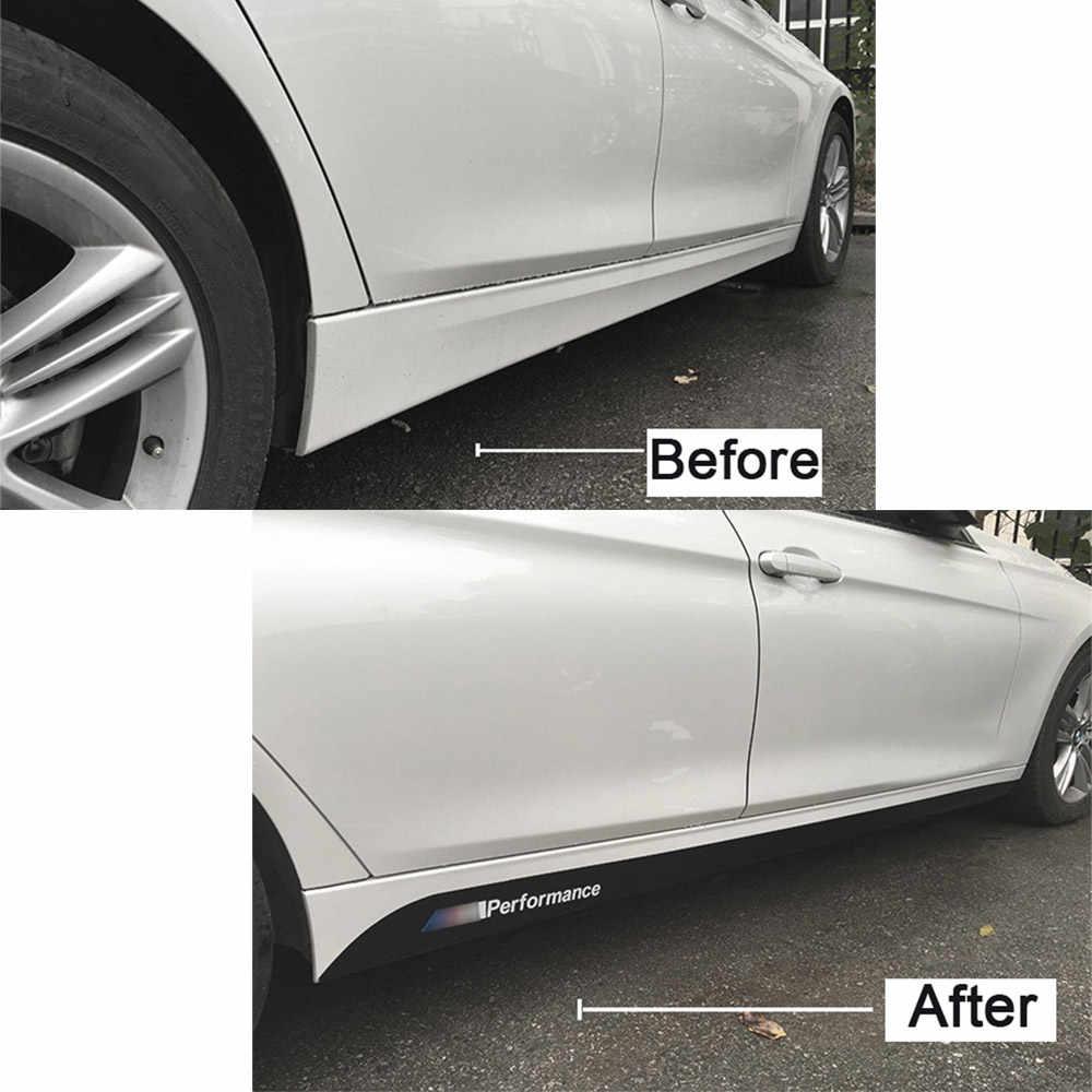 Non-SLIP ด้านข้างกระโปรง Sills รถสติกเกอร์สำหรับ BMW F20 F21 F30 F31 E90 E92 E93 E60 E61 F10 f11 G30 คาร์บอนไฟเบอร์ไวนิล Decals