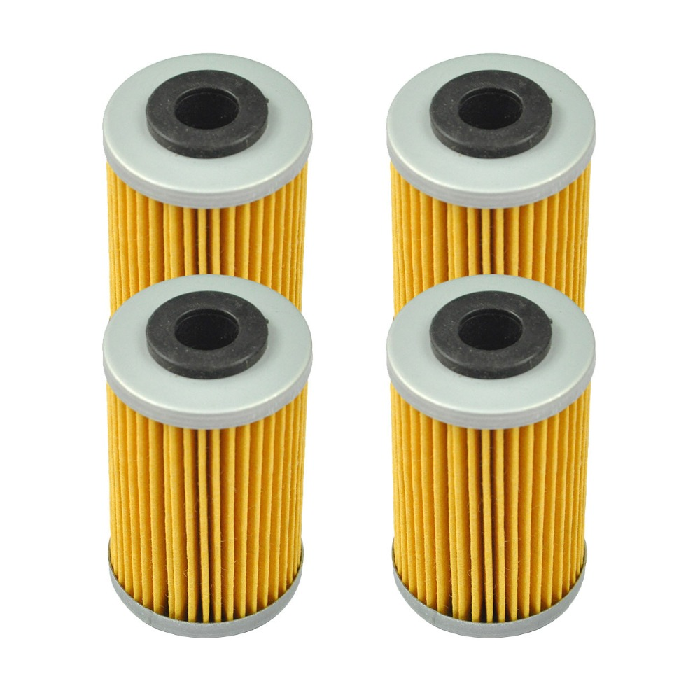 4 Pcs Motorcycle Oil Filter For KTM 125 200 390 620 690 Duke RC 250 400 EXC Racing 450 520 525 620 625 640 660 SXC Supermoto