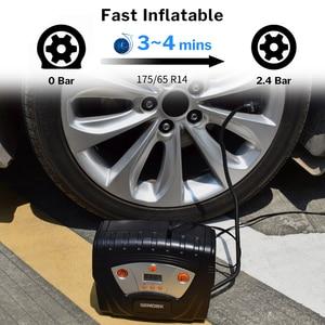Image 2 - WINDEK ضاغط هواء للسيارة الرقمية الإطارات نفخ مضخة منفاخ كهربائي 12 فولت مسبقا ضغط الإطارات السيارات وقف السيارات مضخات للسيارات
