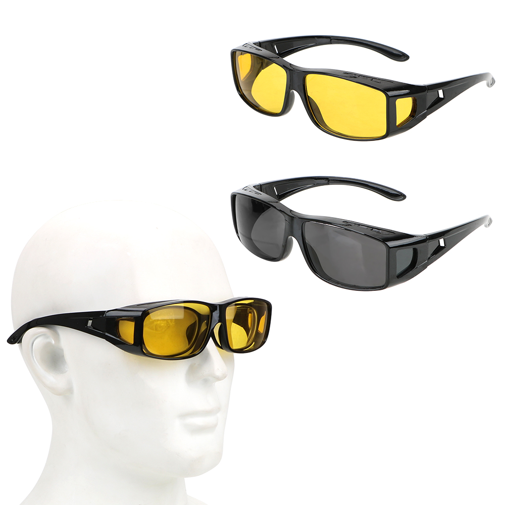Sunglasses HD Night Vision Goggles Eyewear Car Driving Glasses Driver Goggles Fits Over Your Prescription Glasses